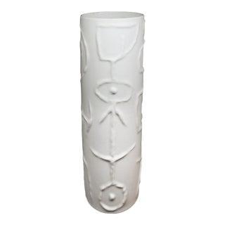 1960s Matte White Modernist Vase by Cuno Fischer For Sale