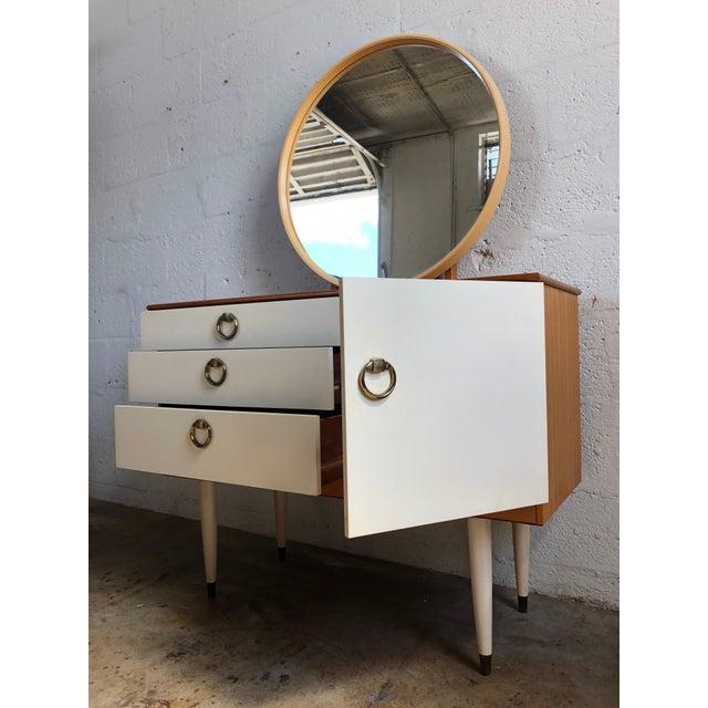 Danish Modern Vintage 1970s Mid Century Modern Vanity by Schreiber For Sale - Image 3 of 11