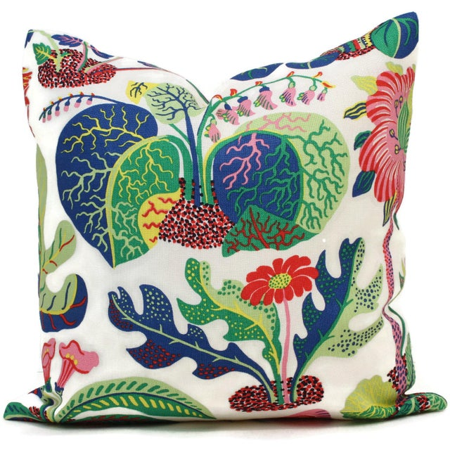 "20"" x 20"" Decorative Pillow Cover Exotic Butterfly in Spring For Sale - Image 4 of 4"