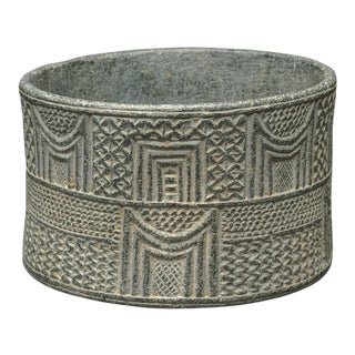 Intercultural Style Chlorite Cylindrical Cup For Sale