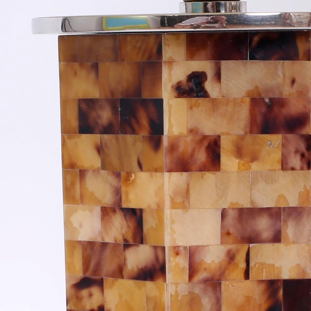 Horn Veneer Table Lamps - A Pair For Sale - Image 4 of 6