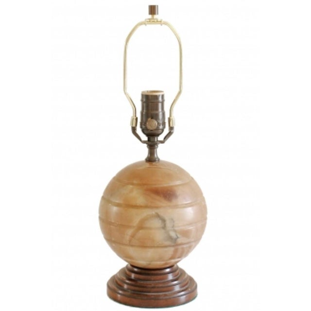 1930s 1930s Vintage Agate Table Lamp For Sale - Image 5 of 5