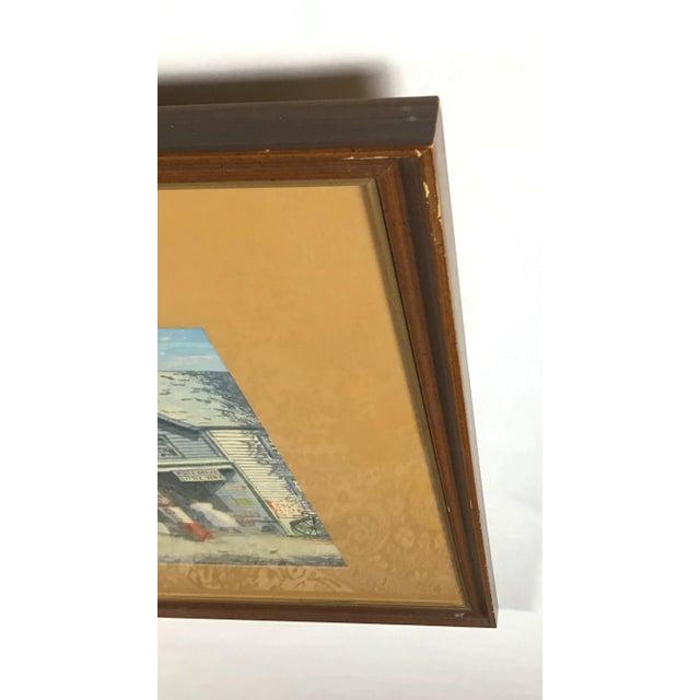 1940s Vintage Harry Shokler Pinkerton's Corner Original Painting For Sale In Boston - Image 6 of 8