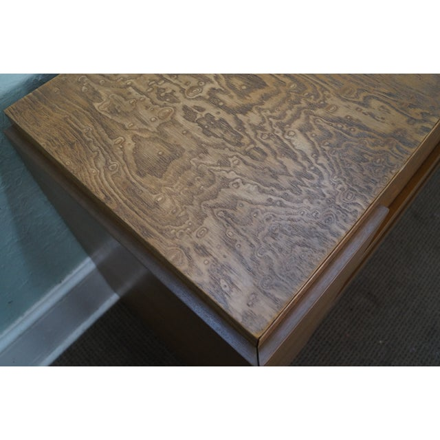 Mid-Century Burl Wood Dressers - A Pair For Sale - Image 10 of 10