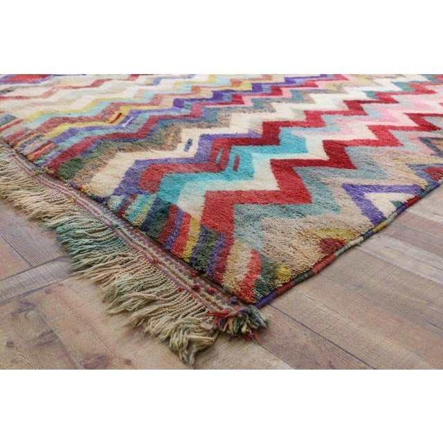 Contemporary Contemporary Missoni Style Moroccan Berber Rug - 10′6″ × 13′4″ For Sale - Image 3 of 9