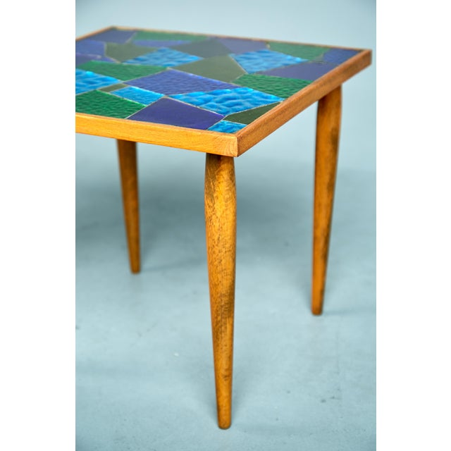 1960 Georges Briard Mosaic Top Side Tables - Set of 3 For Sale In Los Angeles - Image 6 of 10