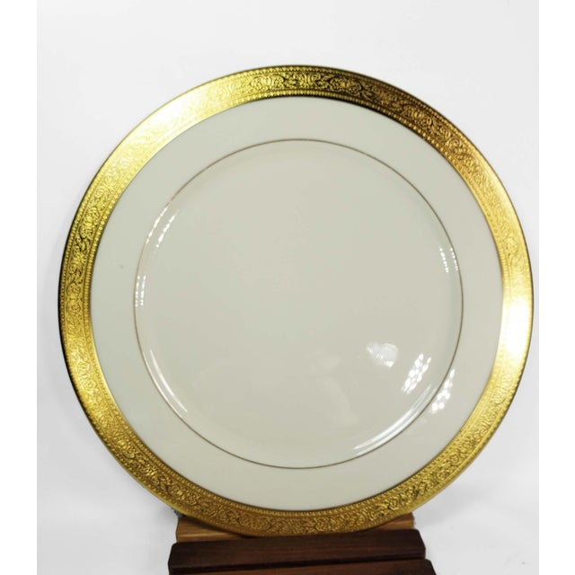 """RARE! Set of 4 Large Charger Plates (11 5/8"""") Lenox Westchester Gold Encrusted China M139 Presidential Set of 4 hard to..."""
