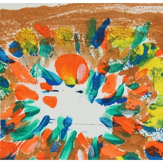 Gwen Stone Colorful Abstract Monoprint on Paper by Gwen Stone, Late 20th Century Circa Late 20th Century For Sale