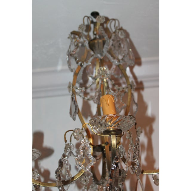 Late 19th Century Antique Baccarat Crystal & Bronze Chandelier For Sale In  Miami - Image 6 - Late 19th Century Antique Baccarat Crystal & Bronze Chandelier