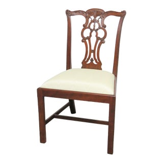 Maitland Smith Chippendale Mahogany Side Chair For Sale