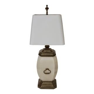 Chapman Porcelain & Brass Lamp