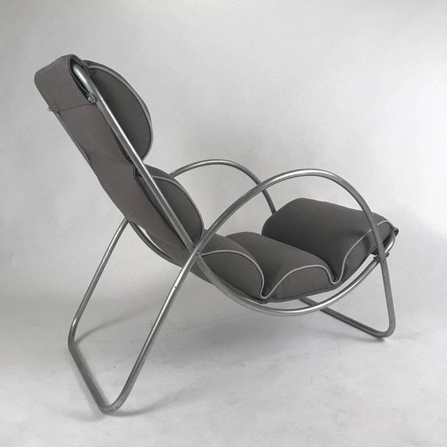 1930s Pair of Halliburton Lounge Chairs, 1930s Art Deco Machine Age Modernist Design For Sale - Image 5 of 10