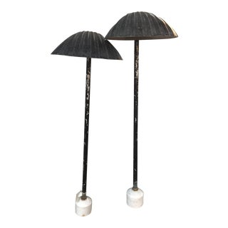 Seashell Aluminum Outdoor Lights - a Pair For Sale