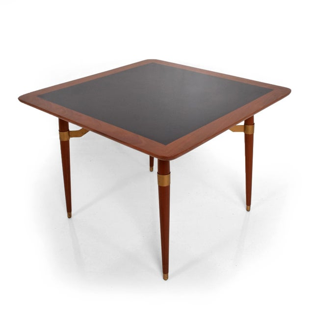 Mexican Modernist Game or Dining Table in Mahogany Wood Attr Eugenio Escudero For Sale - Image 10 of 10