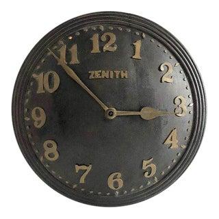 1930s Art Deco Zenith Wall Clock Decor For Sale