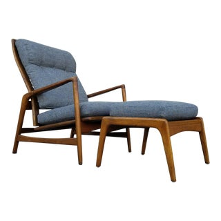 Kofod Larsen Lounge Chair & Ottoman - A Pair