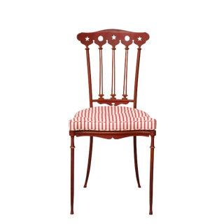 1940s Vintage Art Deco Painted Iron Chair For Sale