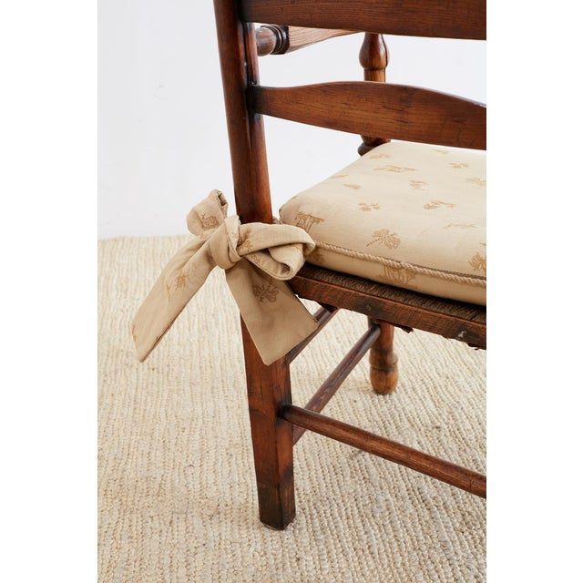 Brown 19th Century English Ladder Back Chair For Sale - Image 8 of 13