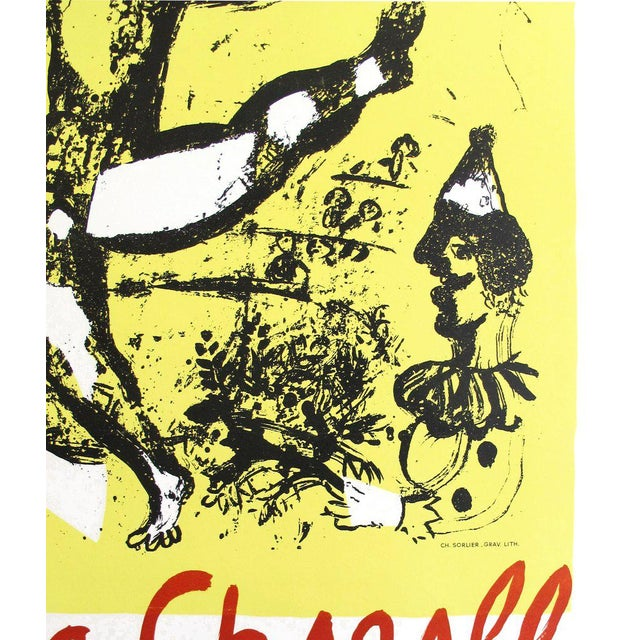 Illustration 1968 Marc Chagall Exhibition Poster, Musée d'Art Moderne De Ceret For Sale - Image 3 of 4