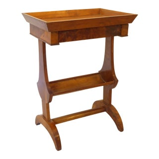 19th Century French Fruitwood Vide Poche Side Table For Sale