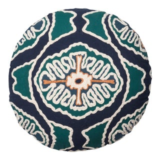 """Justina Blakeney X Loloi Blue / Teal 20"""" X 20"""" Round Cover with Down Pillow"""