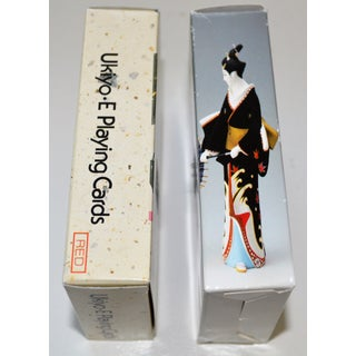 Vintage Japanese 2 Sets of Playing Cards Kyoto Geisha Double Boxed Preview