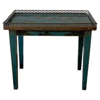 Small Jansen Style Chinoiserie Decorated Side or Occasional Table For Sale