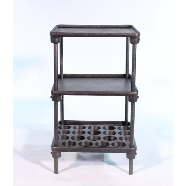 "Gray Cast Iron ""Muffin"" Side Table For Sale - Image 8 of 13"