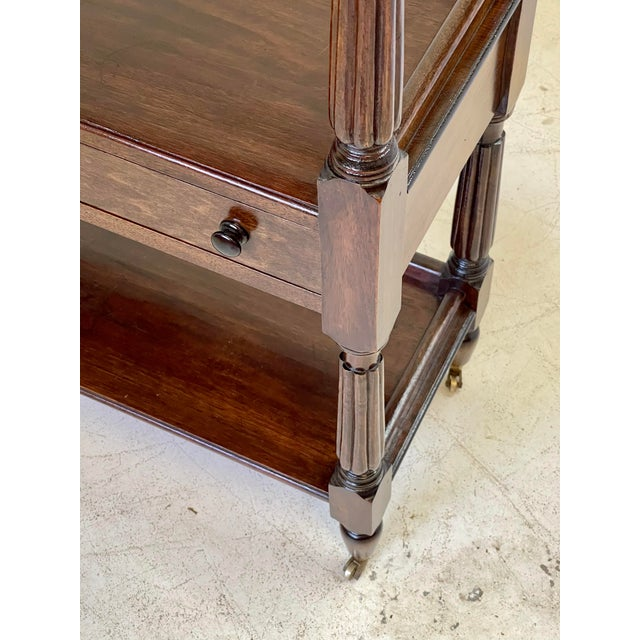 Metal English Regency Trolley of Mahogany For Sale - Image 7 of 13