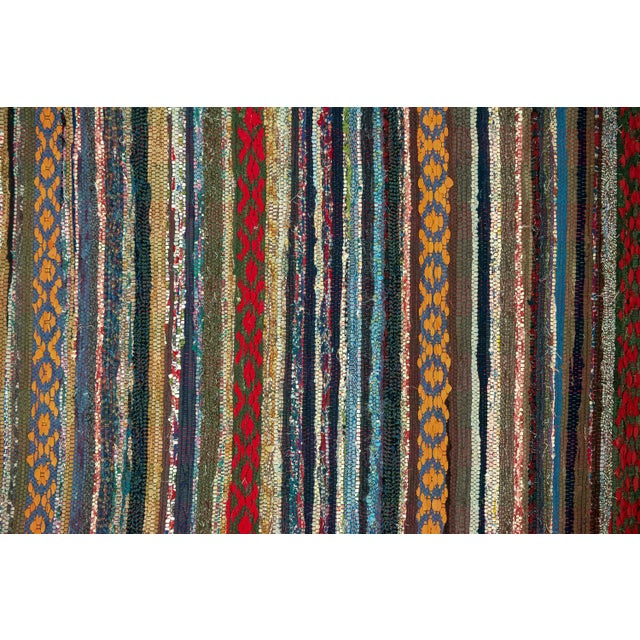 "Scandinavian Handmade Cotton Rug - 2'5"" x 11'1"" - Image 3 of 5"