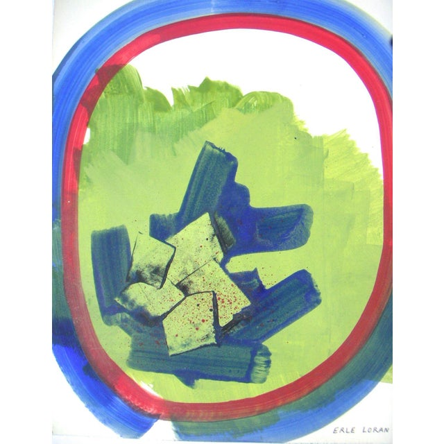 Original Abstract Painting by Erle Loran For Sale - Image 4 of 4