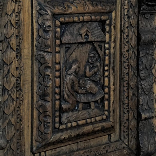 Gray 19th Century English Renaissance Weathered Oak Bookcase For Sale - Image 8 of 11
