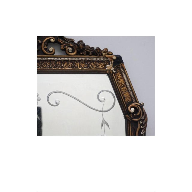 Early 20th C. Etched Glass and Gesso Mirror For Sale In Charleston - Image 6 of 7