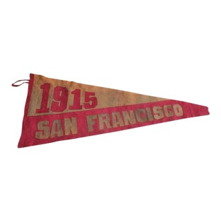Original 1915 Suede San Francisco Pennant For Sale