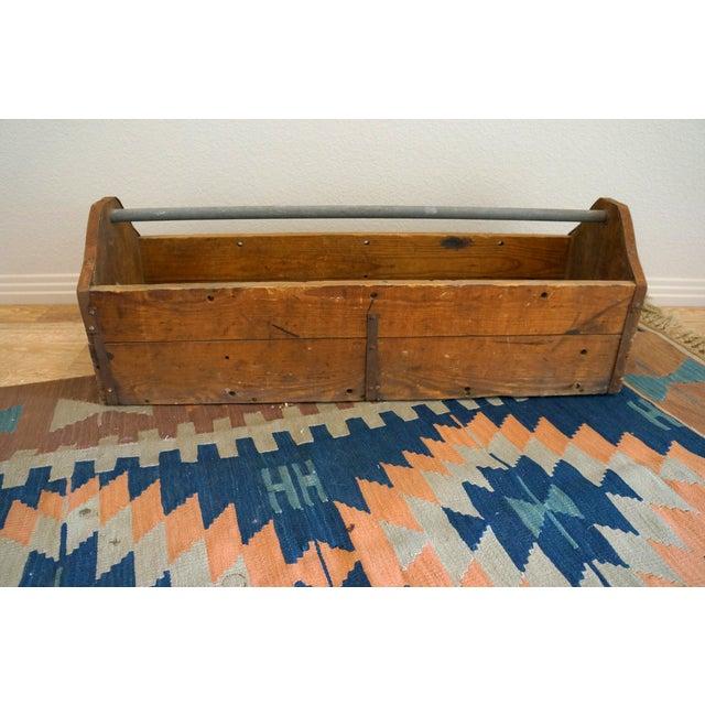 Vintage Rustic Wood Toolbox Caddy - Image 5 of 5