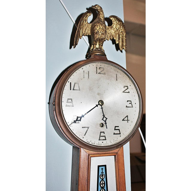 Traditional New Haven Banjo Wall Clock For Sale - Image 3 of 8