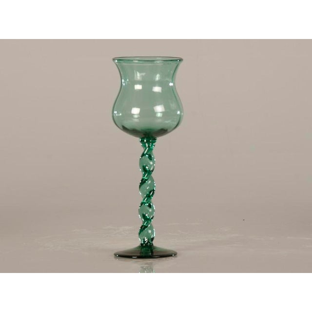 19th Century French Tall Hand Blown Glass Drinking Vessels - Set of 6 For Sale - Image 4 of 8