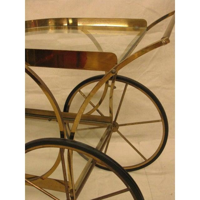Deco Brass Bar Cart - Image 4 of 10