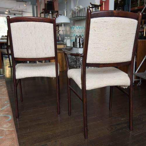 Pink Set of Ten Skovby Rosewood Upholstered Dining Chairs For Sale - Image 8 of 9