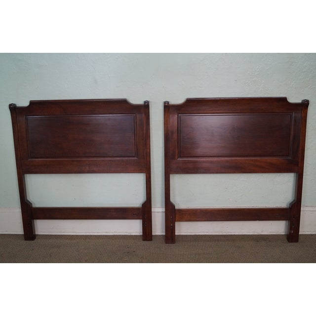 Stickley Solid Mahogany Twin Size Headboards - A Pair - Image 6 of 9