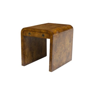 John Widdicomb Burl Waterfall Side Table or Nightstand
