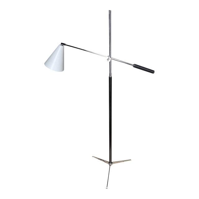 1960s Italian Modern One-Arm Floor Lamp for Arredoluce For Sale