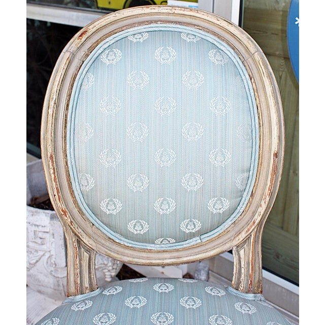 Antique Petite Louis-XVI Type French Chairs - a Pair For Sale - Image 4 of 9