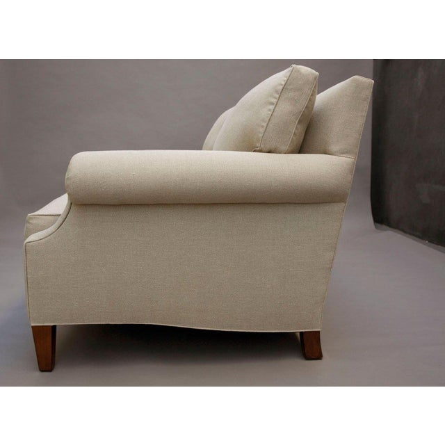 "Textile ""Elton"" by Lee Stanton Upholstered Sofa in Belgium Linen or Custom Fabric For Sale - Image 7 of 11"