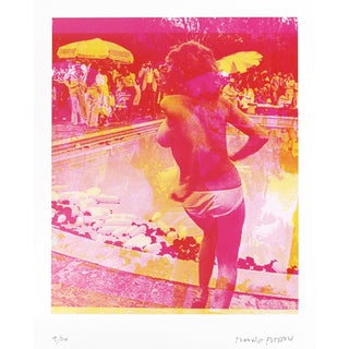 ''Swimming Pool Pink AP (9/20)'' Contemporary Original Lithograph by Marco Pittori For Sale