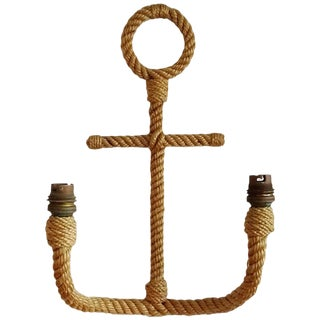 Single Anchor Shaped Rope Sconce by Audoux Minet, France, 1960s For Sale