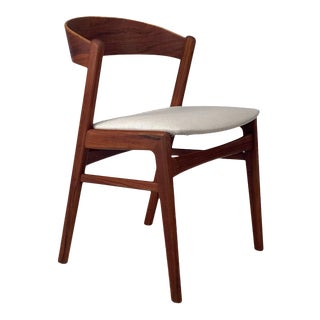 Set of Four Vintage Danish Teak Dining Chairs For Sale