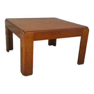 1960s Danish Modern Neils Eilersen Solid Teak Coffee Table For Sale