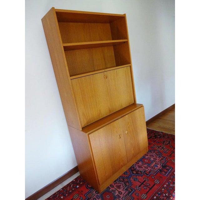 Teak 1970s Danish Modern Teak Secretary Desk For Sale - Image 7 of 10