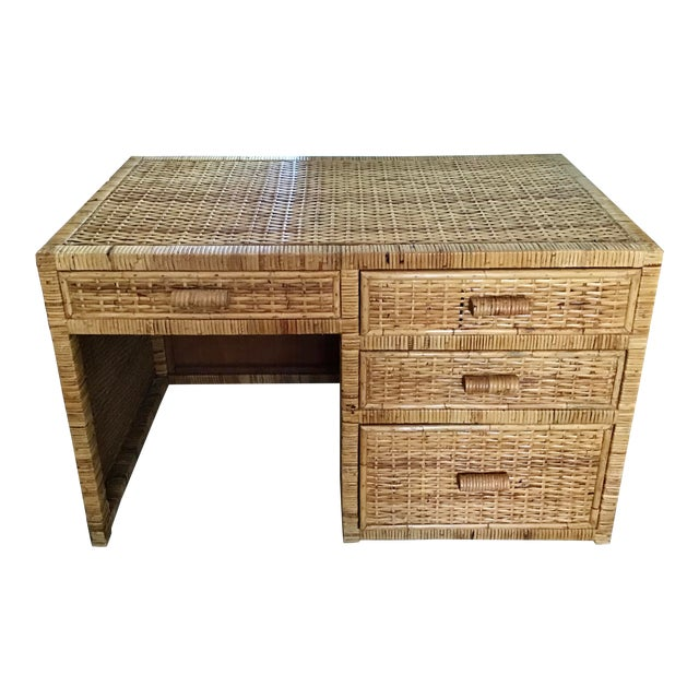 1960s Boho Chic Bielecky Brothers Writing Desk For Sale